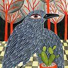 Bird with cactus by zsalto