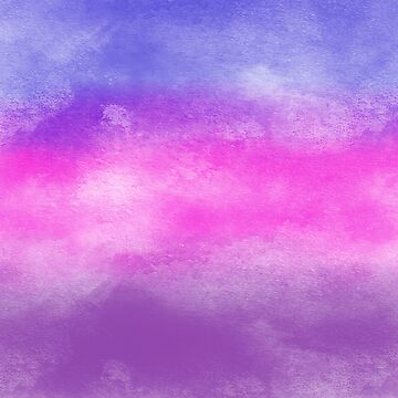 Bisexual Pride Flag - Watercolour by starwhale97
