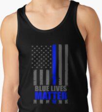 Blaue Leben-Angelegenheit dünne blaue Linie Flagge Tanktop für Männer