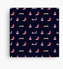 Pattern with girls reading a books Canvas Print