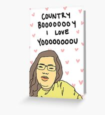 Country boy, I love you  Greeting Card