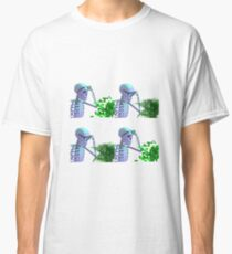 cool skeleton looking at plant Classic T-Shirt