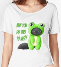 Froggy Mew Mew Women's Relaxed Fit T-Shirt
