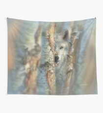 "White Wolf ""Focused"" Wall Tapestry"