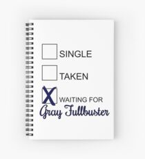 Waiting For: GRAY FULLBUSTER Spiral Notebook