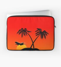 Paradise Island at sunset Laptop Sleeve