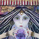 THE AMAZING - Gypsy Fortune Teller mixed media painting by aliciahayesart