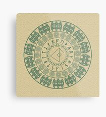 Runic Love Protection Man Toward Woman (green) Metal Print