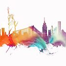 NYC New York City skyline by JBJart