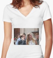 The most significant event - Graduation. Women's Fitted V-Neck T-Shirt