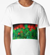 Red Poppies Long T-Shirt