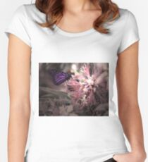 Beautiful Butterfly Fitted Scoop T-Shirt