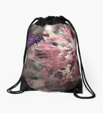 Beautiful Butterfly Drawstring Bag
