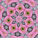 Expressionistic Amaryllis Flower Abstract Mandala Kaleidoscope 1 by Artist4God