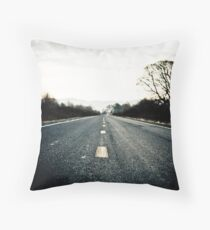 Down the road.. Throw Pillow