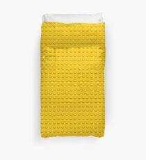 yellow lego stud pattern (circles, dots) Duvet Cover