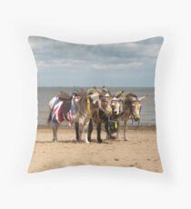 In the Donkey Ride Que Throw Pillow