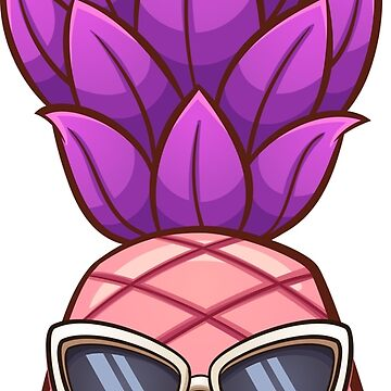 Pink pineapple with sunglasses by memoangeles