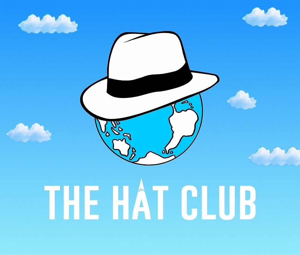 The Hat Club Logo Text Large Format By Lulumeki Redbubble