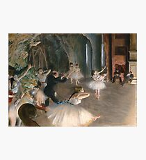 The Ballet Rehearsal on Stage Photographic Print