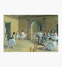 The Dance Foyer at the Opera on the rue Le Peletier Photographic Print