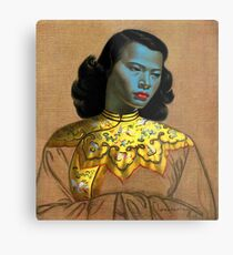 Vladimir Tretchikoff - The Chinese Girl - The Green Lady  Metal Print