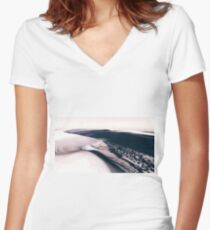 Mars - the Cold Planet Fitted V-Neck T-Shirt