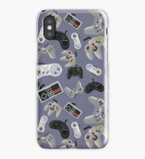 Old School Video Game Controllers - Repeating Pattern iPhone Case