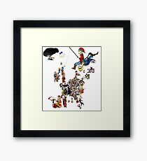 Europa Universalis IV - National Personifications Map of Western Europe Framed Print