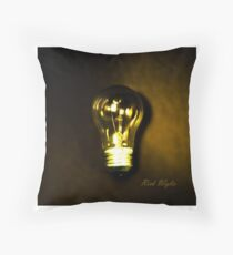 The Brightest Bulb in the Box Throw Pillow