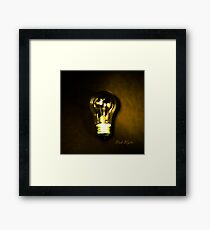 The Brightest Bulb in the Box Framed Print