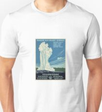 Vintage Yellowstone Travel Poster Unisex T-Shirt