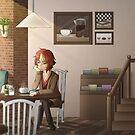 Fuwa Fuwa Dreamers - Cafe by KiwisCornerArt