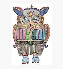 Cool Owl Photographic Print