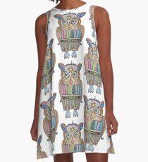 Cool Owl A-Line Dress
