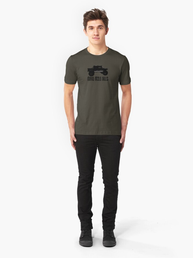 Alternate view of Shift Shirts Built For Battle - H1 Inspired Slim Fit T-Shirt