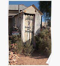 Danger Warning - Outback dunny Poster