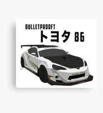Toyota 86 Bulletproof Canvas Print