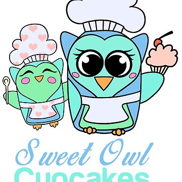 Sweet Owl Cupcakes by BoltTheHuman
