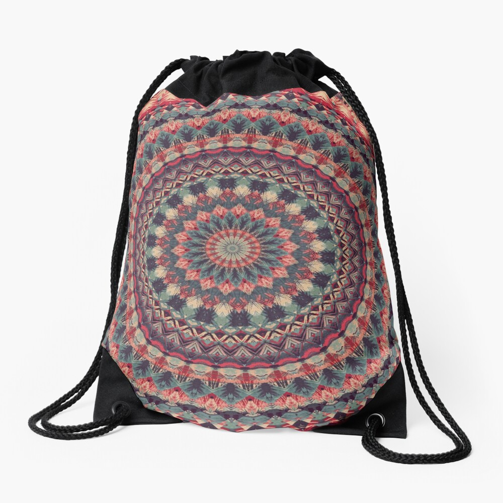 Mandala 126 Drawstring Bag