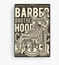 CLASSIC BARBER BROTHER HOOD Canvas Print