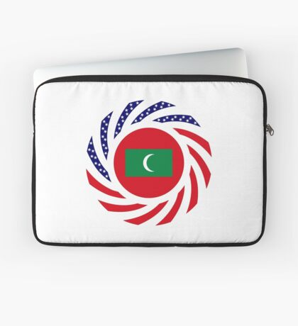 Maldivan American Multinational Patriot Flag Series Laptop Sleeve