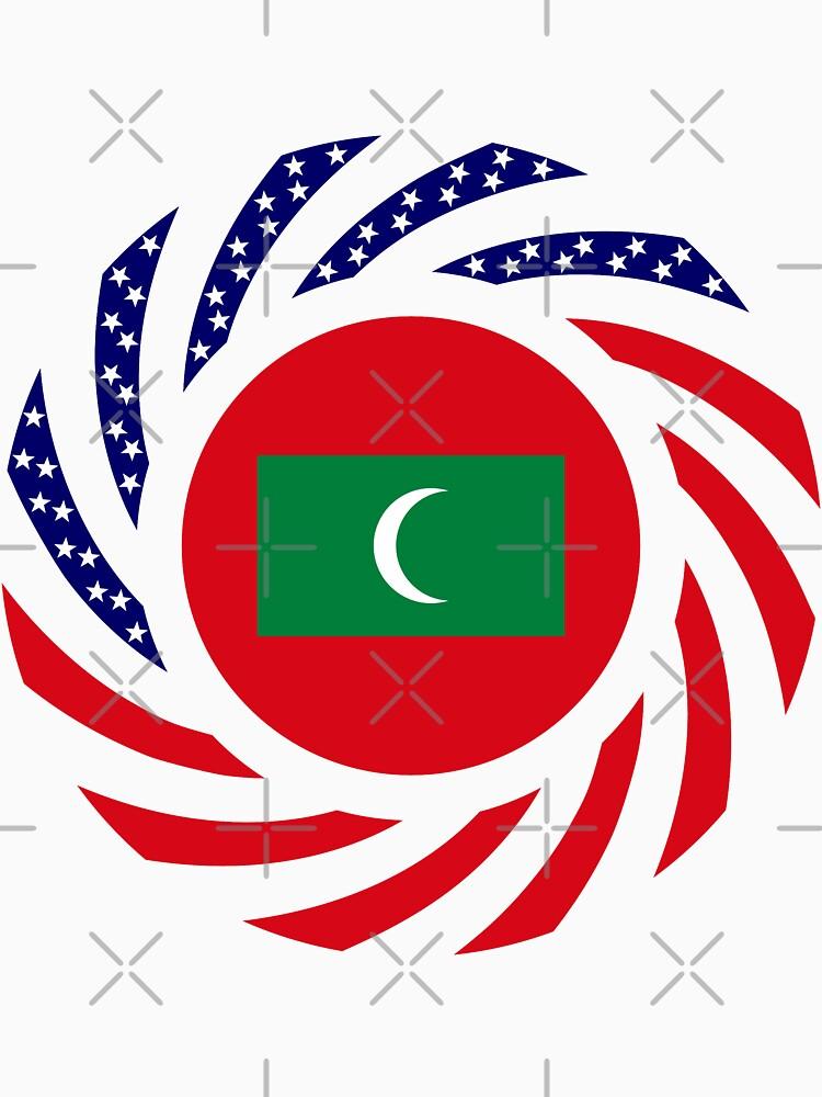Maldivan American Multinational Patriot Flag Series by carbonfibreme