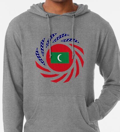 Maldivan American Multinational Patriot Flag Series Lightweight Hoodie