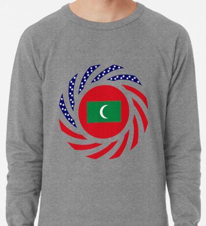 Maldivan American Multinational Patriot Flag Series Lightweight Sweatshirt