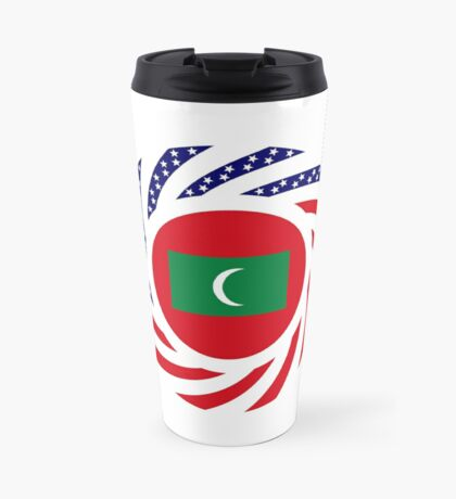 Maldivan American Multinational Patriot Flag Series Travel Mug