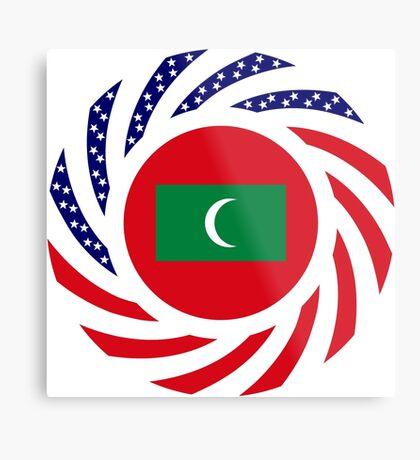 Maldivan American Multinational Patriot Flag Series Metal Print