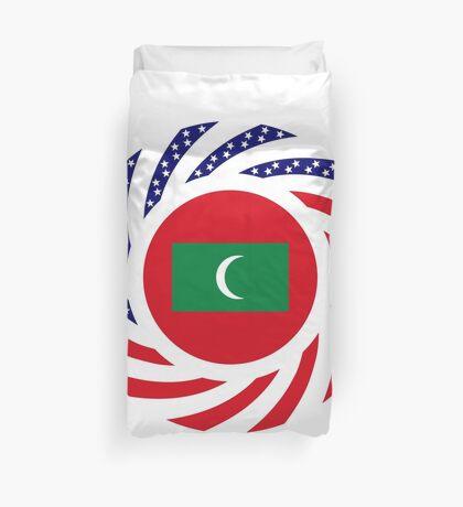 Maldivan American Multinational Patriot Flag Series Duvet Cover
