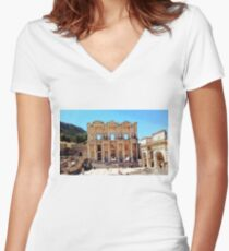 """""""Today Meets Yesterday"""", Photo / Digital Painting Women's Fitted V-Neck T-Shirt"""
