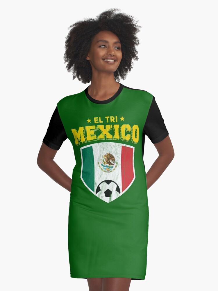 4e9a04985be El Tri Mexico Football National Flag T Shirt World Soccer Jersey Cup  Graphic T-Shirt